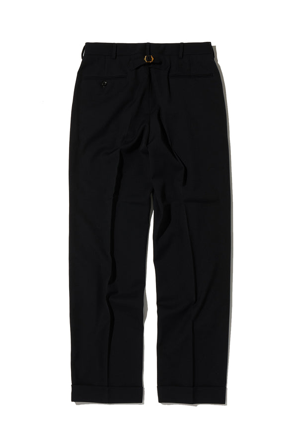 GABARDINE PIPED STEM TROUSERS