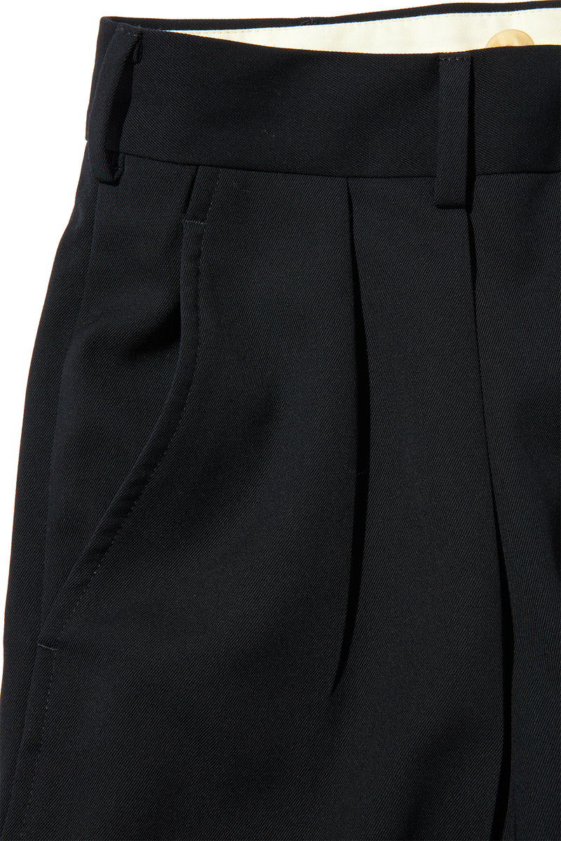 GABARDINE 2PLEATS TROUSERS
