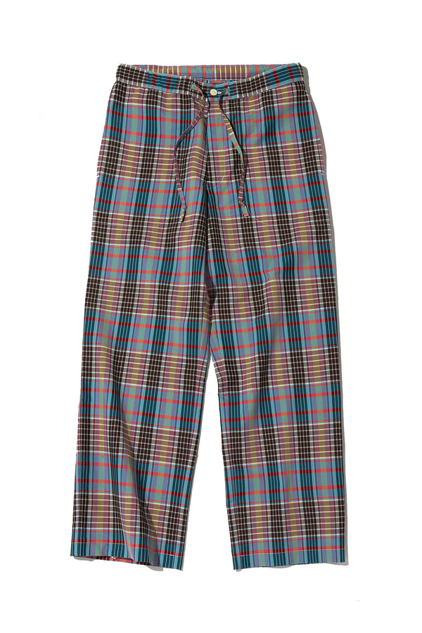 T/C EASY TROUSERS PLAID