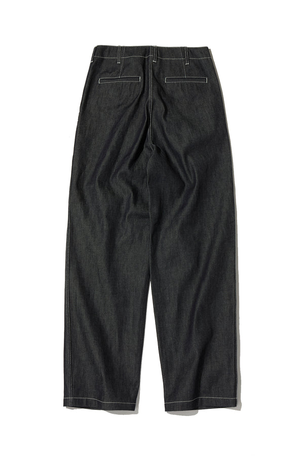 HIGH TWIST DENIM MILITARY TROUSERS