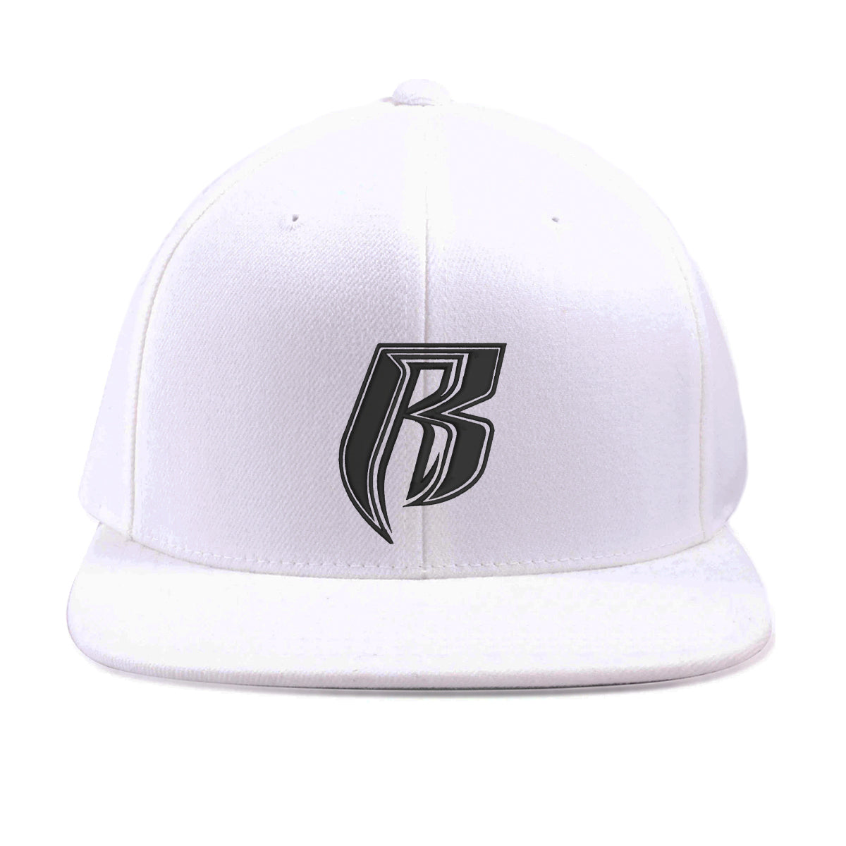 RR Icon Snapback Hat - White/Black