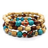 Set of three Sedona Sunset Stretch Bracelets