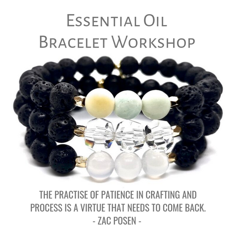 Essential Oil Lava Rock Stretch Bracelet Workshop