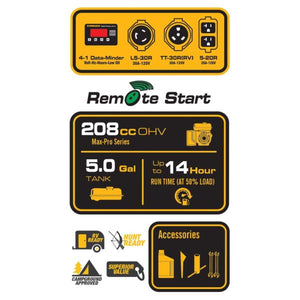 FIRMAN P03608 - 4550 WATT PERFORMANCE GENERATOR REMOTE START-American Camp Supply