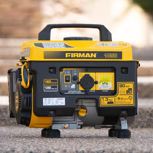 FIRMAN P01001 - Performance Series 1050 Watt Recoil Start Portable Generator-American Camp Supply