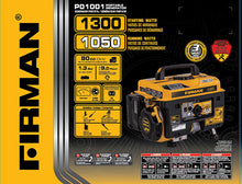 Load image into Gallery viewer, FIRMAN P01001 - Performance Series 1050 Watt Recoil Start Portable Generator-American Camp Supply