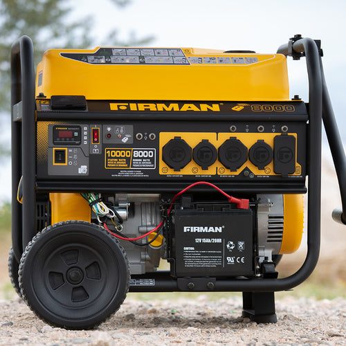 FIRMAN P08003 - Performance Series 8000 Watt Electric Start Portable Generator w/ RV Outlet & Wireless Remote (CARB)-American Camp Supply