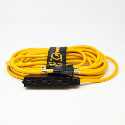 FIRMAN 2015 - 25 FT POWER CORD WITH TRIPLE TAP AND STORAGE STRAP-American Camp Supply
