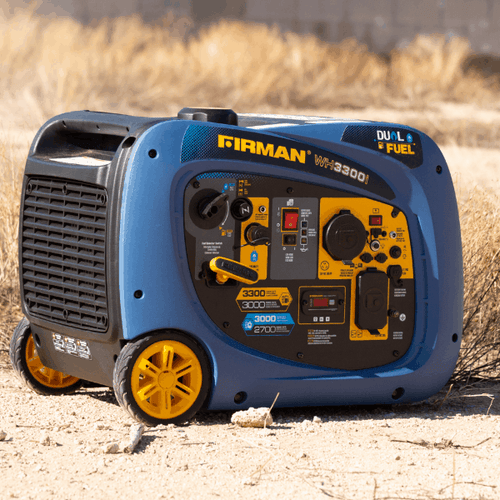FIRMAN WH03041 - 3300 WATT DUAL FUEL INVERTER GENERATOR - Recoil Start-American Camp Supply