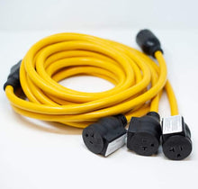 Load image into Gallery viewer, FIRMAN 1101 - 25FT POWER CORD TT-30P 30AMP TO 5-20RX3-American Camp Supply