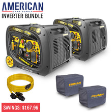Load image into Gallery viewer, Inverter Bundle Holiday Special! - Two FIRMAN W03383 models plus FREE Covers & 25' Power Cord-American Camp Supply