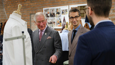Prince Charles getting on board with sustainable fashion.