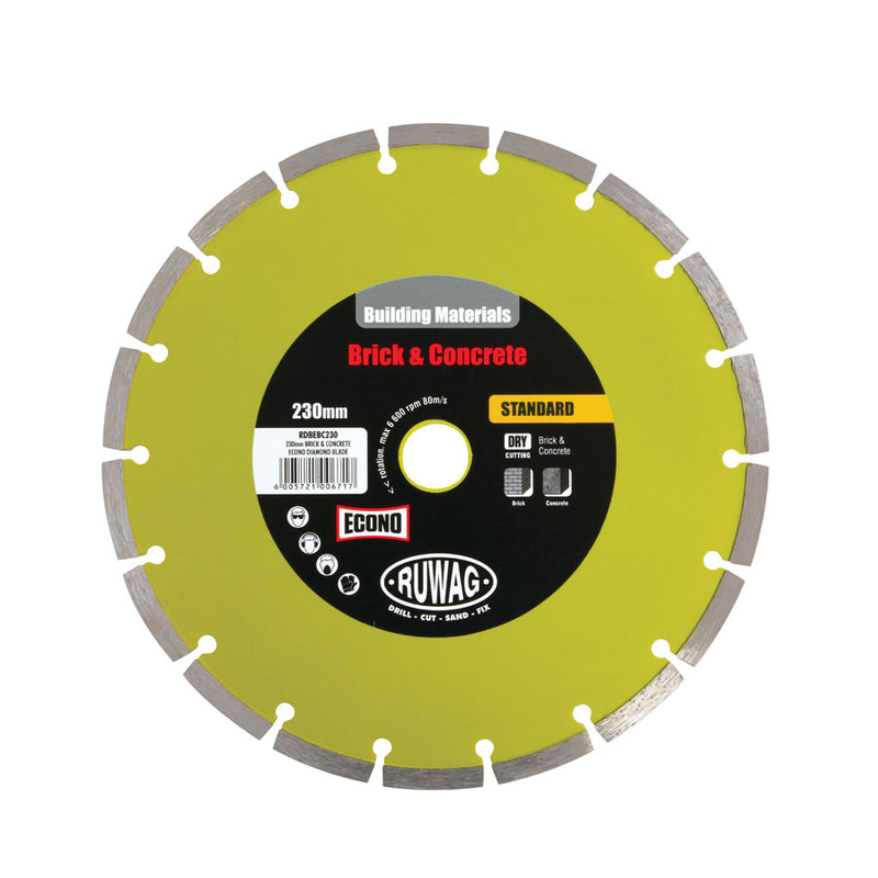 230mm Brick & Concrete Econo diamond blade