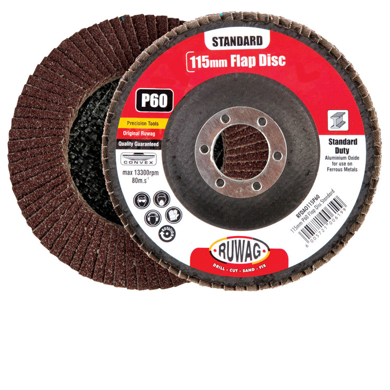 Ruwag 115mm P120 Flap Disc Standard /Ea