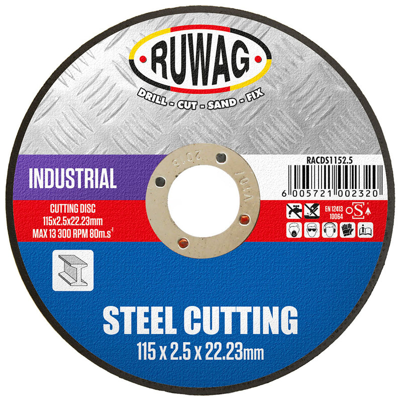 115mm STEEL ABRASIVE CUTTING DISC