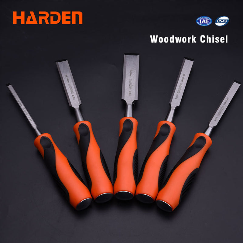 25mm Orange/black handle wood chisel
