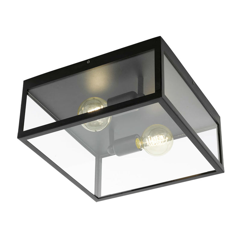 Eurolux Charterhouse Square 360mm Black Ceiling Light