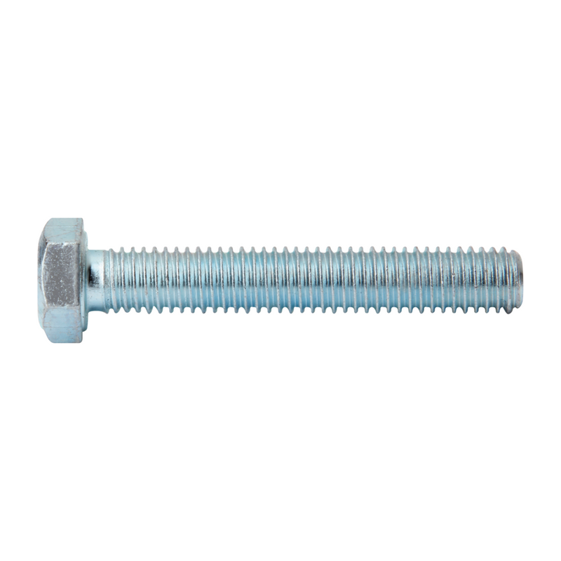Mild Steel Set Screw & Nut Zinc Plated 10x20mm (5)