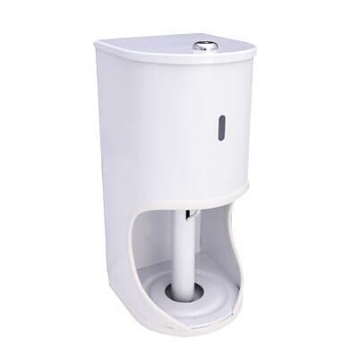 SPLASHWORKS TOILET PAPER HOLDER 2 ROLL LOCK WHT