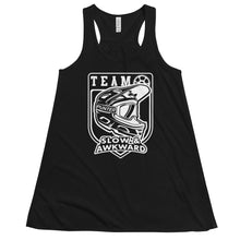 Load image into Gallery viewer, Team Slow and Awkward Women's Flowy Racerback Tank (BLK)