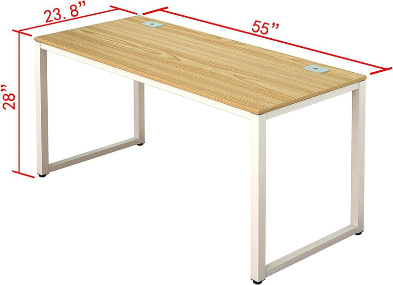 Home Office 55-Inch Large Computer Desk (Walnut)