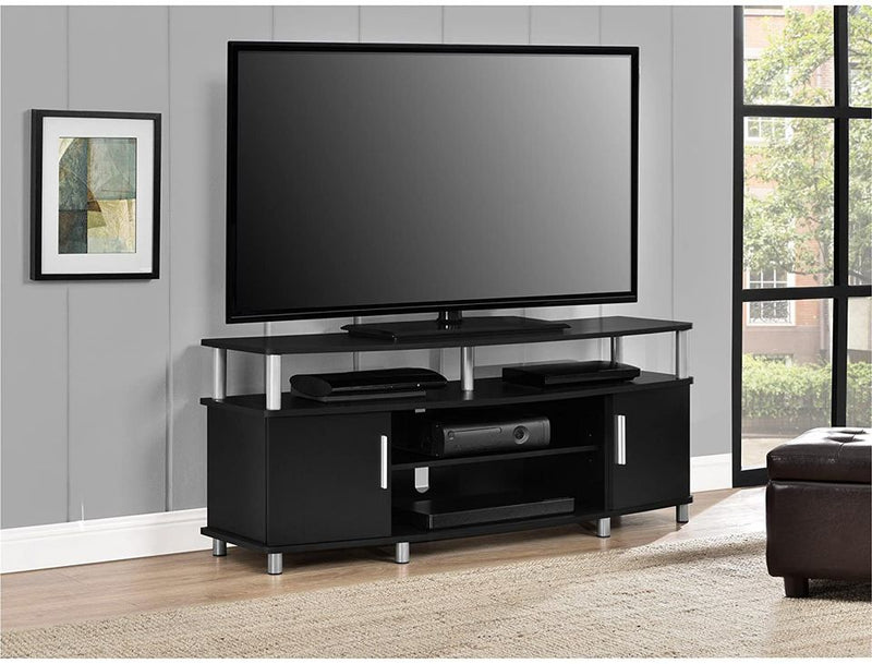"Home Carson TV Stand for TVs up to 50"", Black"