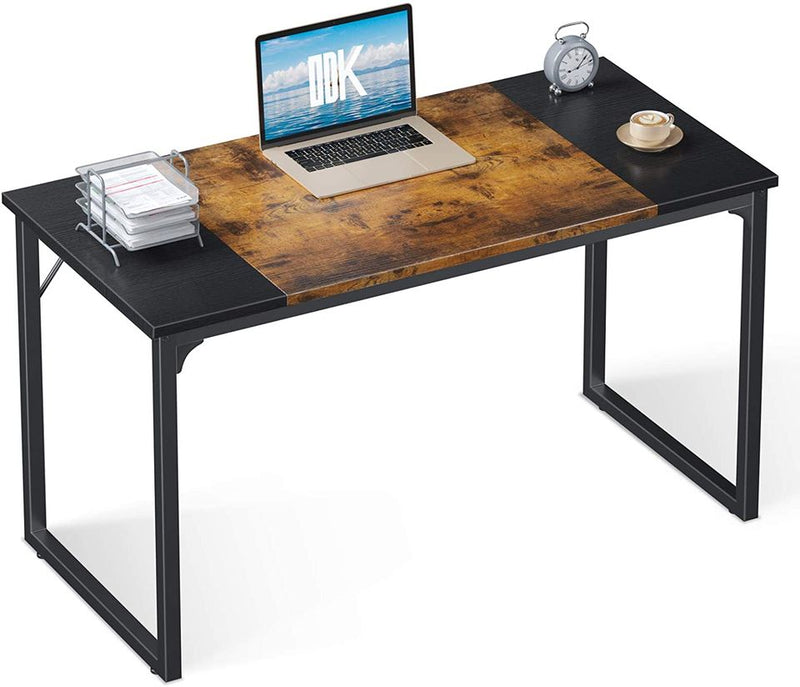 "Computer Office Desk 39"", Study Writing Table, Modern Simple Style PC Desk ,Black and Vintage"
