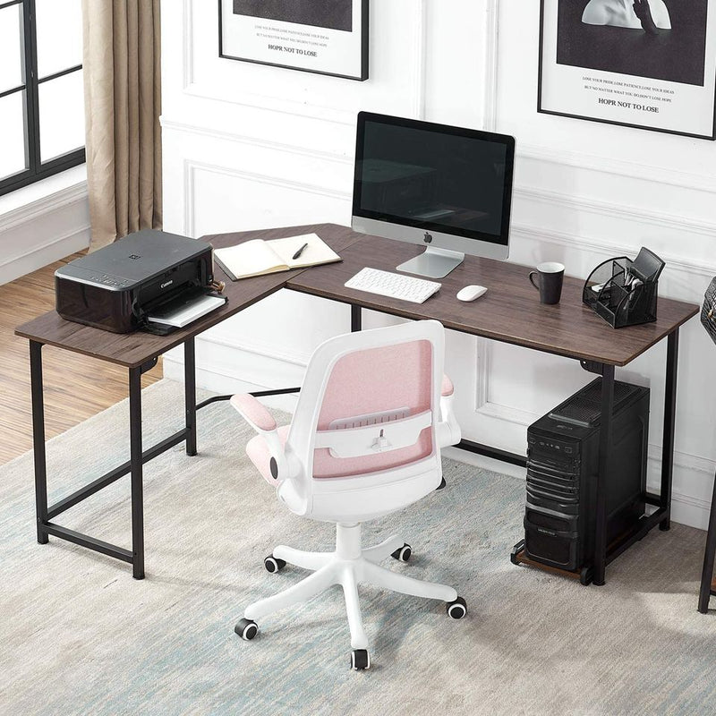 Modern L-Shaped Corner Computer Desk with CPU Stand/PC Laptop Study Writing Table Workstation