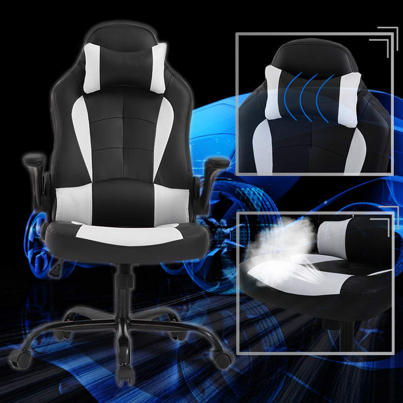 High-Back Racing, Reclining Gaming Chair, Office Chair White