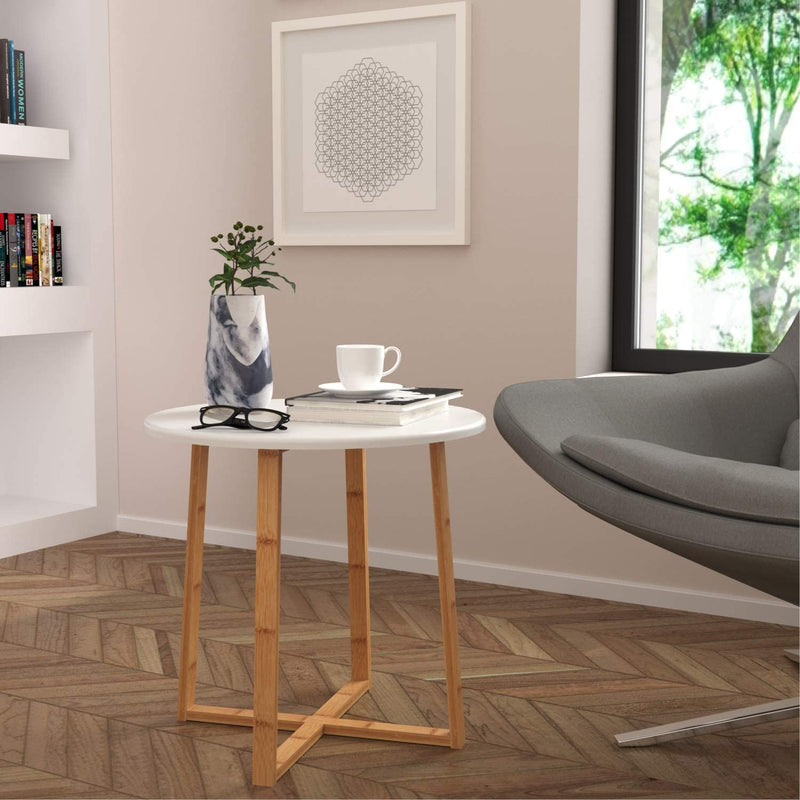 Side Table Modern Nightstand Round Side End Accent Coffee Table