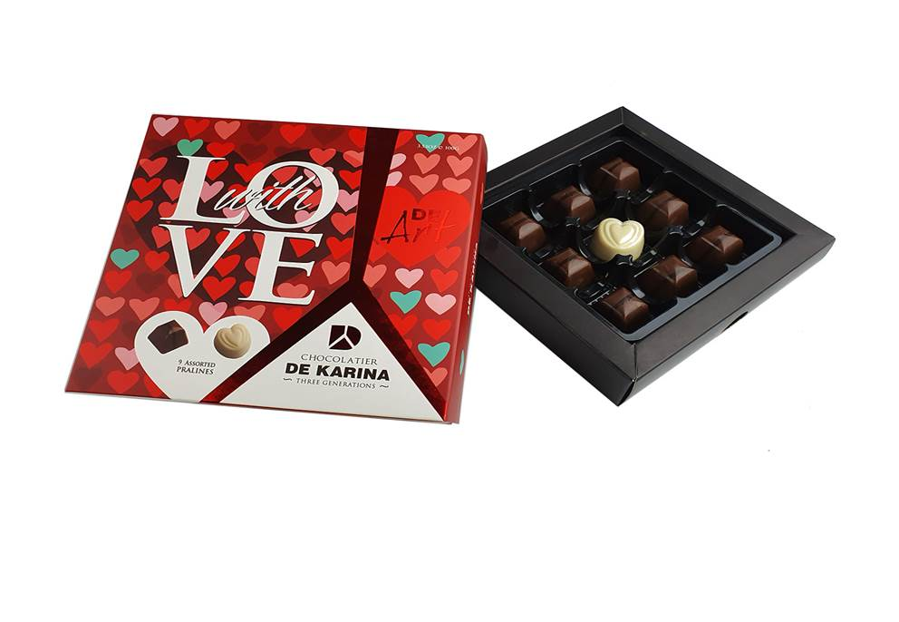 With Love | 9 Assorted Pralines | Package of 2