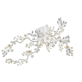 Alyssa  Floral Hair Comb - Available in Antique Gold & Silver
