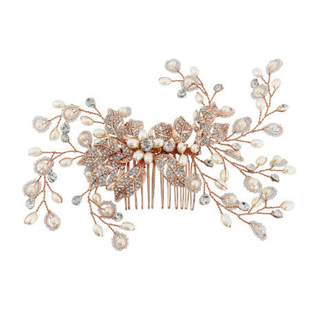 Georgie B Crystal and Pearl Hair Comb
