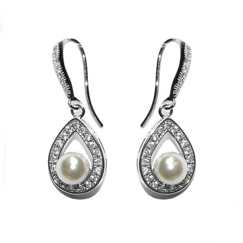 Mae Crystal and Pearl Earrings
