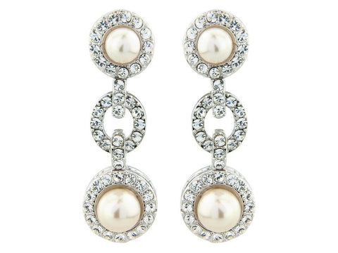 Raelyn Crystal and Pearl Earrings