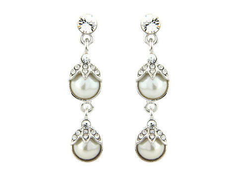 Rowena Crystal and Pearl Earrings