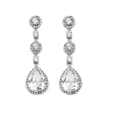 Gina Crystal Drop Earrings Available in 3 Colours