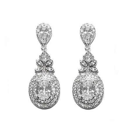 Jacinta Crystal Drop Earrings
