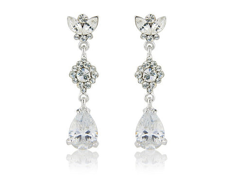 Safiya Crystal Drop Earrings