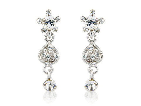 Sophisticated crystal chandelier drop earrings