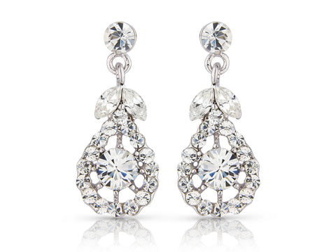 Crystal chandelier drop earrings made from high quality crystals, they have a drop of 2.5cm.