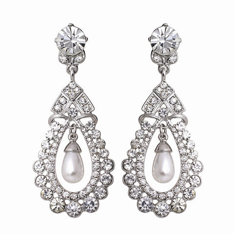 Vivienne Crystal and Pearl Earrings