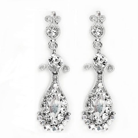 Beautiful tear drop crystal earrings
