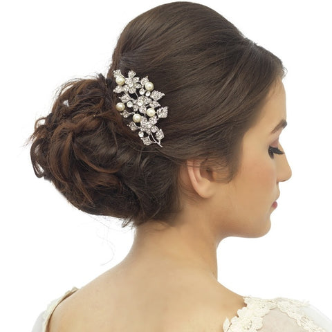 Colette Pearl and Crystal Hair Comb