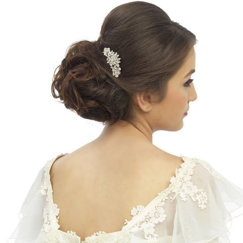 Corrine Crystal Floral Hair Comb