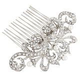 Millie Crystal and Pearl Hair Comb