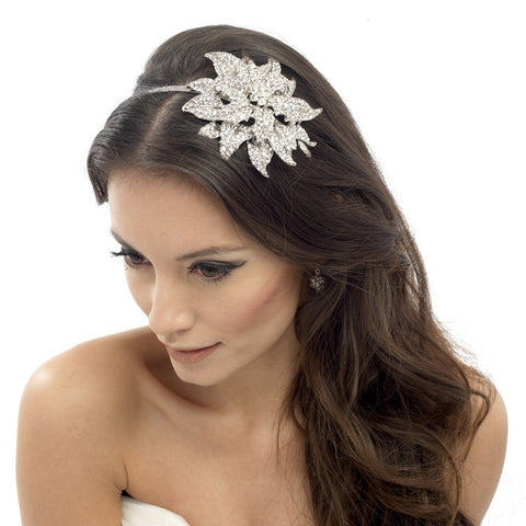 Layla Crystal Flower Headband