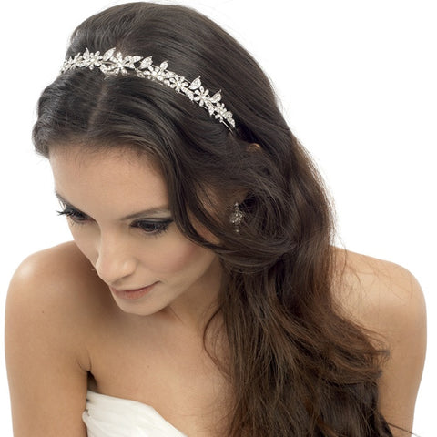 Hayley Crystal Flower Headband