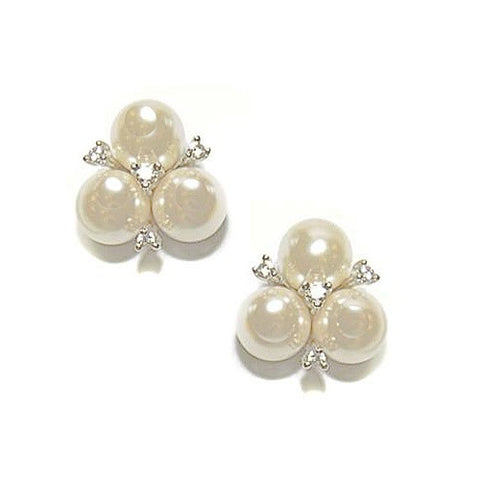 Pearl and crystal earrings made with high quality crystals and ivory pearls