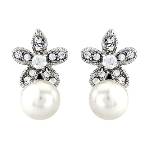 Rosalie Crystal and Pearl Earrings